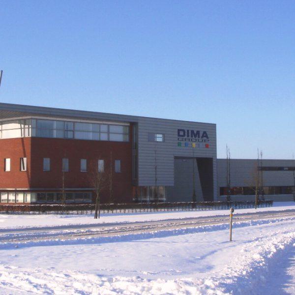 Kantoor en bedrijfshallen DIMA te Deurne