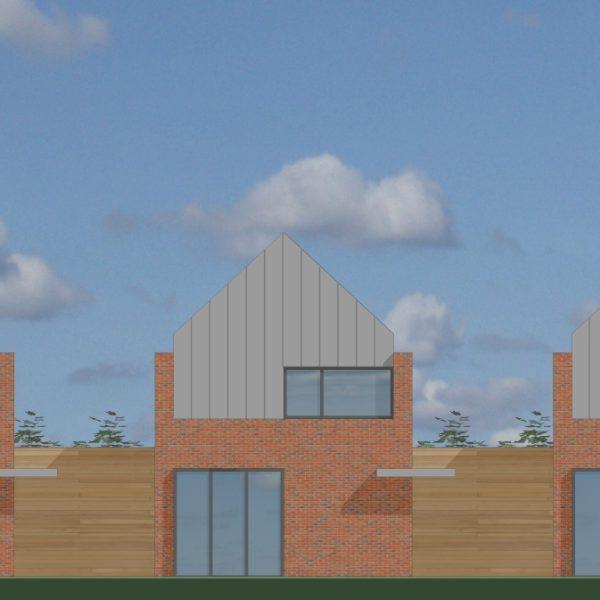 Nieuwbouw 3 patiowoningen te Deurne